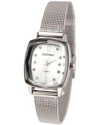 Ellen Tracy Quartz Silver Dial Watch - Metallic
