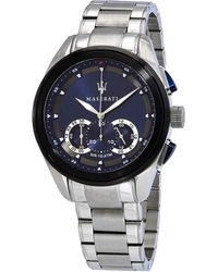 Maserati Traguardo Chronograph Quartz Blue Dial Mens Watch