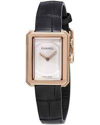 Chanel Boy-friend 18k Beige Gold Watch - Multicolour