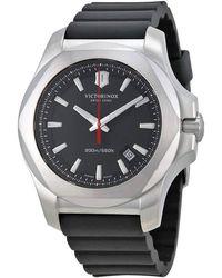 Victorinox Swiss Army Inox Black Dial Black Rubber Mens Watch