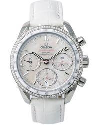 Omega Pre-owned Speedmaster Chronograph Automatic Diamond Ladies Watch - Metallic