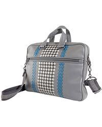 Bottega Veneta Ladies Briefcase In Bv Club 19 - Gray