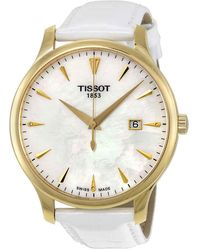 Tissot Tradition Mother Of Pearl Dial Ladies Watch - Metallic