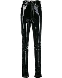Maison Margiela Black Vinyl Trousers