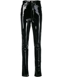 Maison Margiela Black Vinyl Pants
