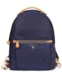 Michael Kors Nylon Kelsey Large Backpack - Blue