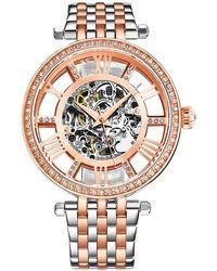 Stuhrling Original Legacy Automatic Rose Gold Dial Ladies Watch - Multicolour