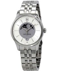 Victorinox Alliance Silver And Gray Dial Ladies Watch - Metallic