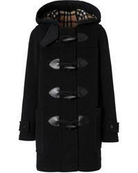 Burberry Wool-blend Duffel Coat - Black