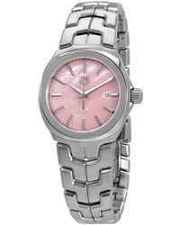 Tag Heuer Link Pink Mother Of Pearl Dial Ladies Watch