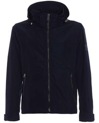 Burberry Hedley Nylon Hooded Jacket Iin Navy, Brand - Blue