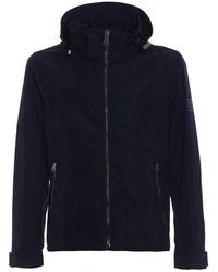 Burberry Hedley Nylon Hooded Jacket Iin Navy - Blue