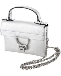 Coccinelle Silver Arlettis  Leather Shoulder Bag - Metallic