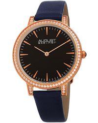 August Steiner Quartz Crystal Black Dial Ladies Watch - Multicolor