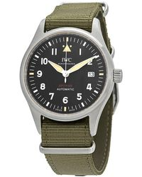 Iwc Pilot Spitfire Automatic Black Dial Mens Watch - Metallic