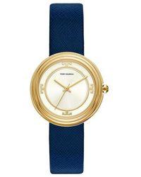 Tory Burch Bailey Three-hand Quartz White Dial Ladies Watch - Blue