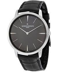 Vacheron Constantin Patrimony Platinum Mens Watch -9539 - Metallic