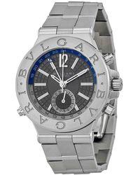 BVLGARI Diagono Professional Gmt Grey Dial Automatic Mens Watch