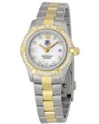 Tag Heuer Aquaracer Mother Of Pearl Diamond Ladies Watch - Metallic