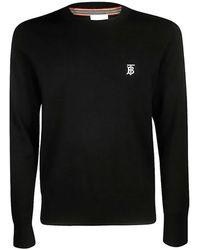 Burberry Monogram Motif Merino Wool Jumper - Black