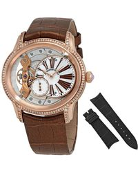 Audemars Piguet Millenary White Mother Of Pearl Dial Ladies 18 Carat Pink Gold Watch - Metallic