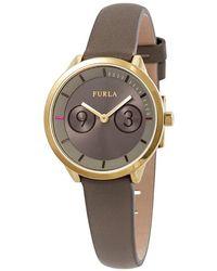 Furla Metropolis Brown Dial Ladies Watch