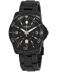 Victorinox Maverick Black Dial Black Pvd Mens Watch