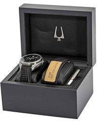 Bulova Special Edition Moon Apollo Lunar Pilot Chronograph Black Dial Mens Watch