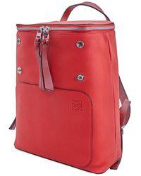 Loewe Ladies Goya Small Backpack In Red