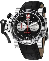 Graham Chronofighter Oversized Gmt Automatic Black Dial Mens Watch