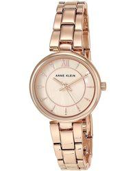 Anne Klein Quartz Blush Mother Of Pearl Dial Watch - Metallic