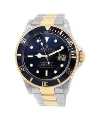 Rolex Pre-owned Submariner Automatic Chronometer Black Dial Mens Watch - Metallic