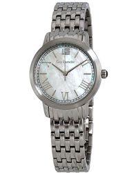 Guy Laroche Far East White Mother Of Pearl Dial Ladies Watch -01 - Metallic
