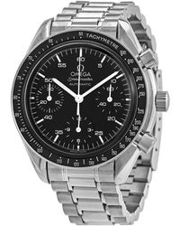Omega Pre-owned Speedmaster Chronograph Automatic Black Dial Mens Watch - Multicolour