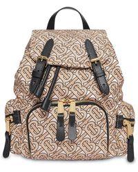 Burberry Monogram Backpack - Natural
