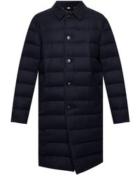 Burberry - Mens Navy Down-filled Wool Puffer Coat, Brand - Lyst