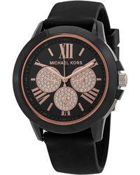 Michael Kors Bradshaw Black Dial Watch - Multicolour