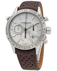 Raymond Weil Freelancer Chronograph Automatic White Dial Mens Watch -stc-30001 - Metallic