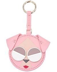 Kate Spade Spademals Mod Dog Dangle Keychain - Pink