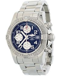 Breitling Pre-owned Avenger Chronograph Automatic Chronometer Black Dial Mens Watch - Metallic