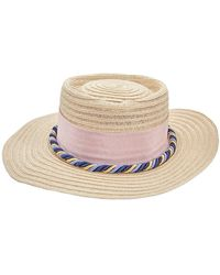 D'Estree Ladies  Straw Hat - Pink