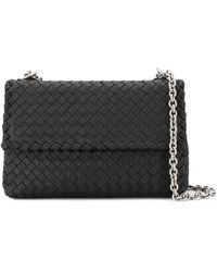 Bottega Veneta Ladies Olimpia Leather Small Shoulder Bag In Black