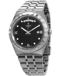 Tudor Royal Automatic Diamond Black Dial 41 Mm Watch -0004 - Metallic