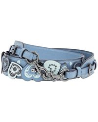 COACH Ladies Straps With Hearts In Chambray - Blue