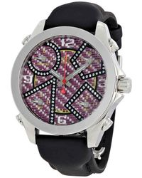 Jacob & Co Five Time Zone Carbon Fibre Diamond Dial Mens Watch -93da - Metallic