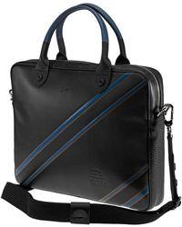 Longchamp Leather 271 St Ho Cuir Document Holder - Black
