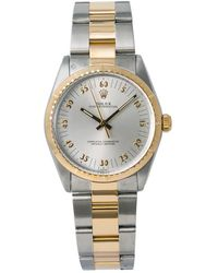 Rolex Pre-owned Oyster Perpetual Automatic Silver Dial Mens Watch  Sao - Metallic