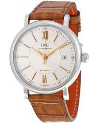 Iwc Portofino Automatic Silver Diamond Dial Unisex Watch - Metallic