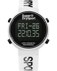 Superdry Digi Pedometer Alarm Chronograph Quartz Digital Black Dial Unisex Watch