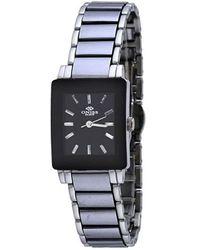 Oniss Black Dial Stainless Steel Ladies Watch -lpv